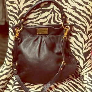 Marc by Marc Jacobs Black Leather Hobo Bag!